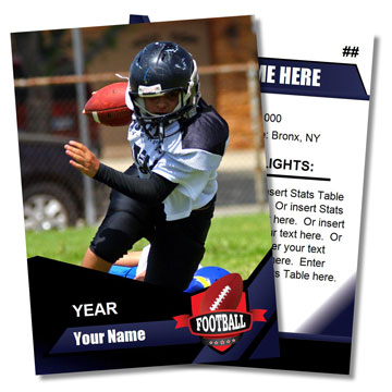 Football Card Templates