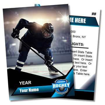 Hockey Card Templates