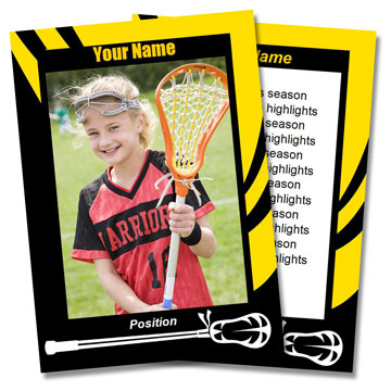 Lacrosse Card Templates